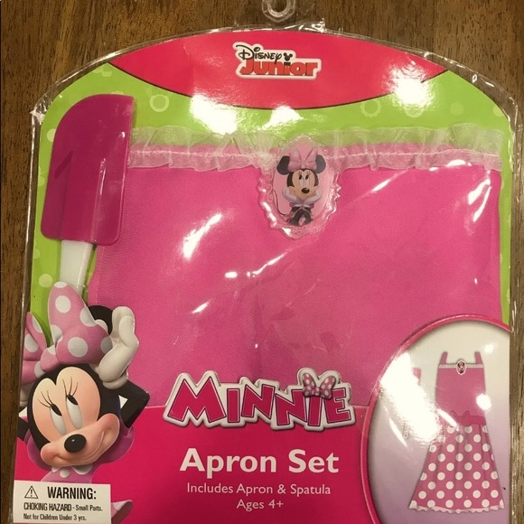 Brand New Minnie Mouse Apron with Spatula